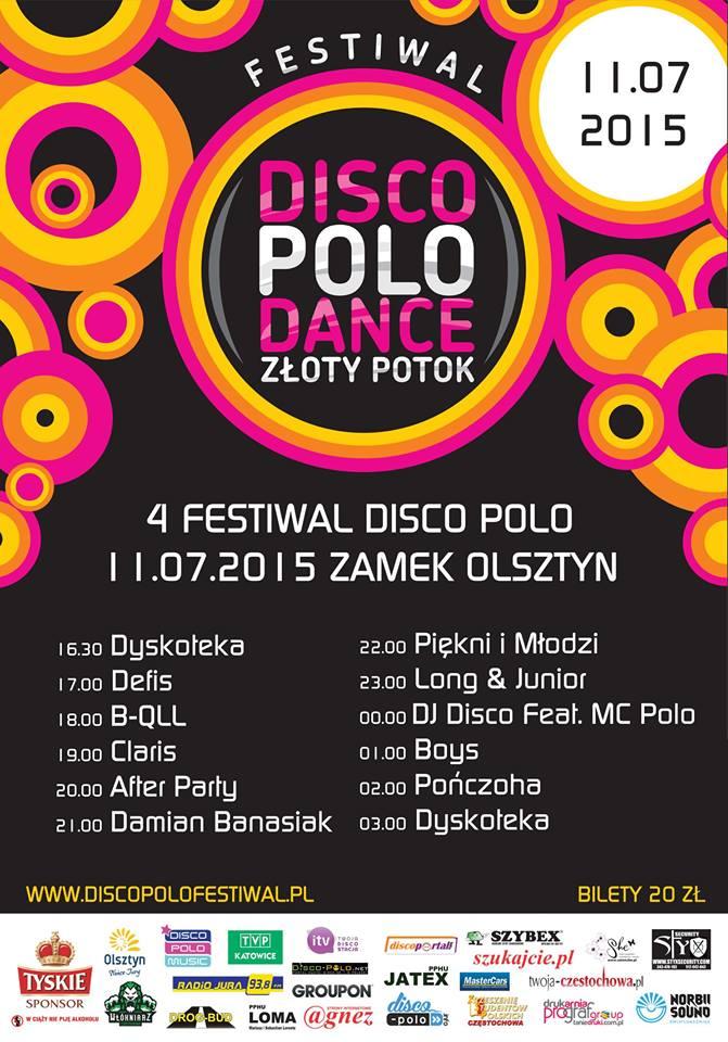 plakat festiwal zamek olsztyn disco polo