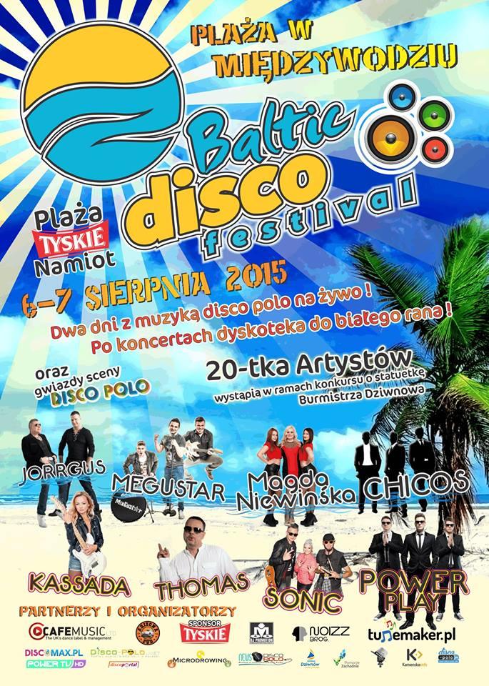 plakat baltic disco festiwal