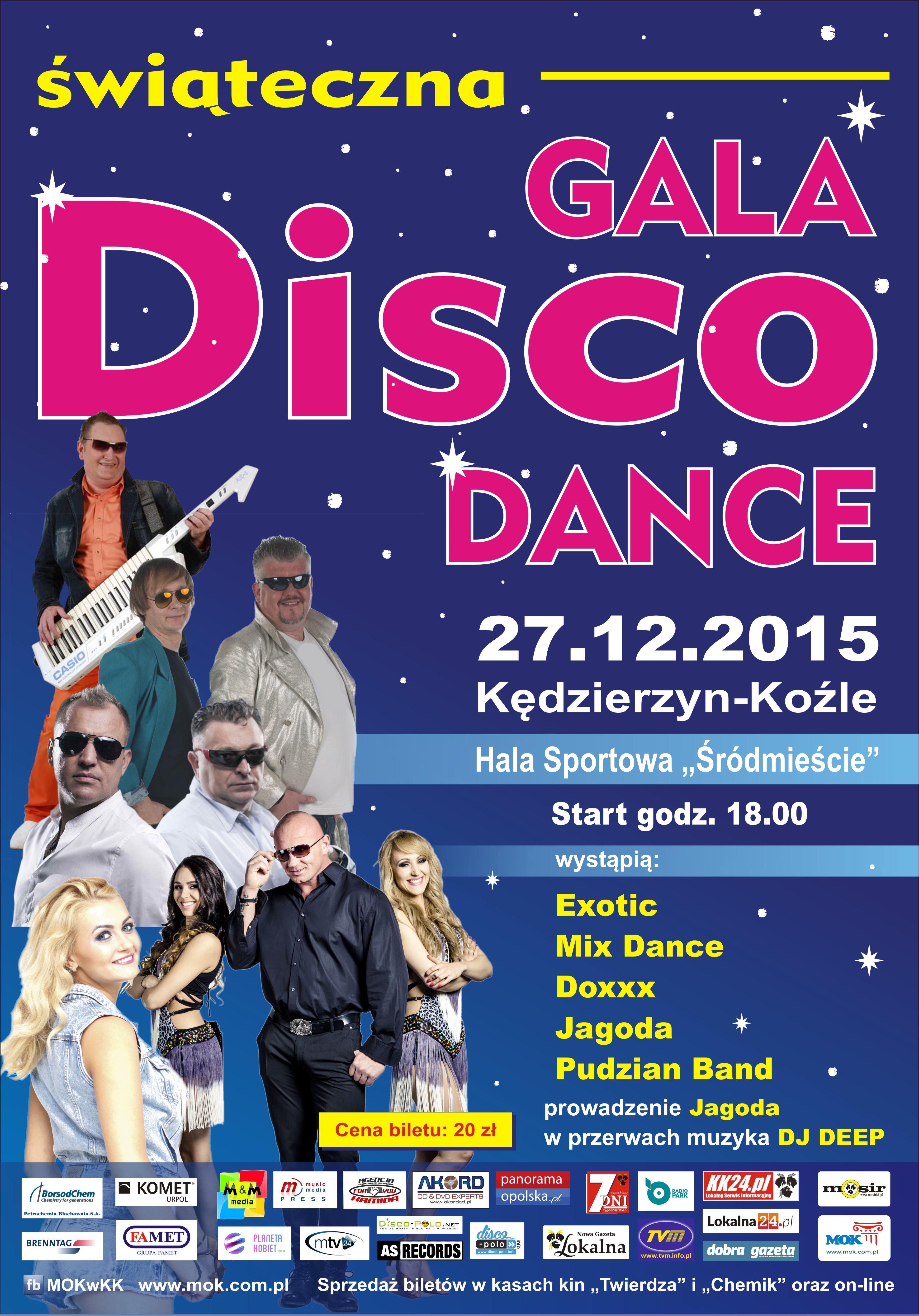Gala disco dance  - plakat